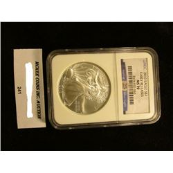 2010 U.S. American Eagle Silver Dollar. NGC Slabbed Early Releases MS 70
