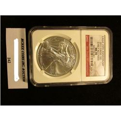 2011 U.S. American Eagle 25th Anniversary Silver Dollar. NGC Slabbed Early Releases MS 70