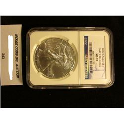 2012 U.S. American Eagle Silver Dollar. NGC Slabbed Early Releases MS 70