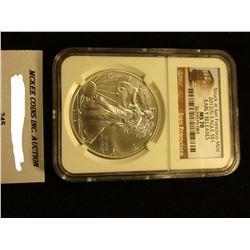 2012 (S)  U.S. American Eagle Silver Dollar. Struck at the San Francisco Mint NGC Slabbed Early Rele