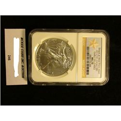 2012 (W)  U.S. American Eagle Silver Dollar. Struck at West Point NGC Slabbed Early Releases MS 70