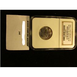 "2005 P West Virginia Quarter NGC slabbed ""Reverse Die Break @08:00 Mint Error MS 65""."