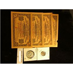 "Set of Four ""Riley Sweers Company's United Profit-Sharing Ten Coupon"" scrip from the Depression era;"