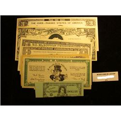 9-Different Political Satire Bank notes dating back to the 1930s.