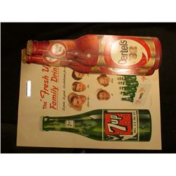 "Pair of ""Oertel's '92"" Beer Signs; & a large ""7 up"" Sign."