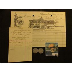 "Rare invoice & receipt ""Morey & Myers Cigar Co. Manufacturers & Jobbers of Cigars & Tobaccos…Ottumwa"