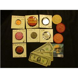 """Laminated Key-ring miniature currency with only loop; """"Redpath Shautagua"""" Cedar Rapids, Iowa Pin-bac"""