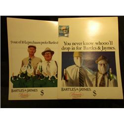 """You never know whooo'll drop in for Bartles & Jaymes"" Poster; & ""9 out of 10 Leprechauns prefer Bar"