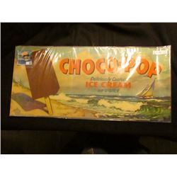 """1946 advertising poster """"Choco-Pop Deliciously Coated Ice Cream on-a-stick"""", some erosion at lower l"""