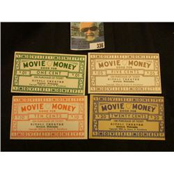 "Copyright 1954 Ernest H. Kasselbaum Movie Money Good For Scrip ""Good For (One Cent, Five Cent, Ten C"