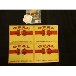 """""""Opal Brand Charles Hewitt & Sons Co. Des Moines"""" four-square label; & """"W.I. Dow/Wisdom, Mont."""", """"Go"""
