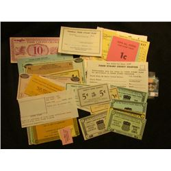 (51) Different Food Stamp Money Currency.
