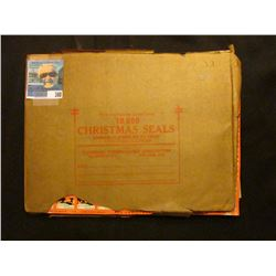 Original package of 10,000 Christmas Seals lithographed by Columbian Bank Note Company Chicago, Illi