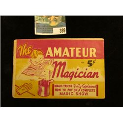 "Small booklet ""The Amateur 405 5c Magician Magic Tricks Fully Explained How to Put on A Complete Mag"