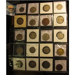 A nice old Group of (20) Brazilian Coins dating 1868 through 1949. Several High grades, some appear