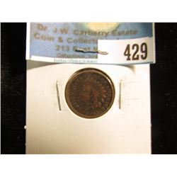 1862 Copper-nickel U.S. Indian Head Cent, Fine.