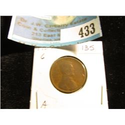 1909 P Lincoln Cent, Good.