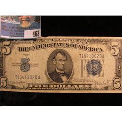 Series 1934 D Five Dollar U.S. Silver Certificate,