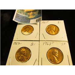 1961 P, D, 62 P, & D Gem BU Lincoln Cents.