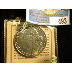 "1895 P Morgan Dollar ""P"" Tribute Proof copy with original literature. Gem condition."