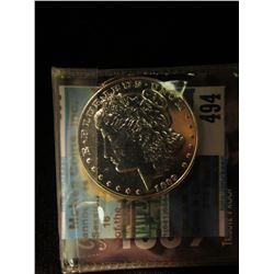 "1889 CC Morgan Dollar ""CC"" Tribute Proof copy with original literature. Gem condition."