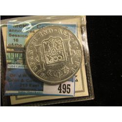"""A Tribute to America's First Silver Dollar-The 8 Reales"" Copy with original literature."