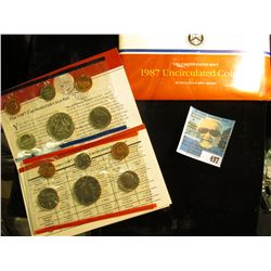 1987 U.S. Mint Set in original packaging as issued. (The only way to get the half-dollar coin).