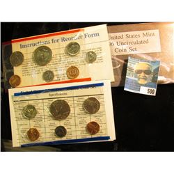 1996 U.S. Mint Set in original packaging as issued. With the rare West Point struck Roosevelt Dime.