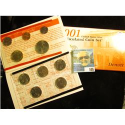 2001 P & D U.S. Mint Set in original packaging as issued.