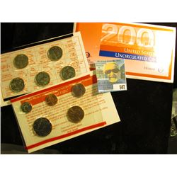 2002 P & D U.S. Mint Set in original packaging as issued.