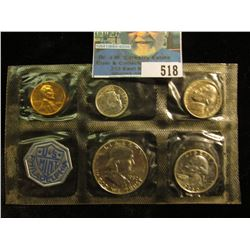 1960 P Large Date U.S. Proof Set in original cellophane as issued by the U.S. Mint.