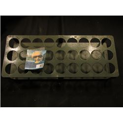 27- Quarter Rolls Coin Sorting metal rack. Used.