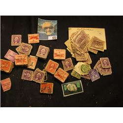 Large group of Old Stamps including Columbians and Airmails, all stored in a Wooden box.