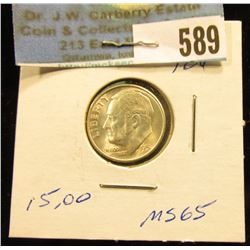 1951 S Roosevelt Dime. MS-65