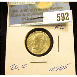 1952 S Roosevelt Dime. MS-65