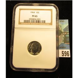 1964 P Roosevelt Dime. NGC PF 65