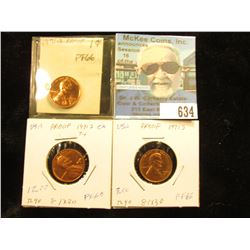 (3) 1971 S Lincoln Cent PF-66