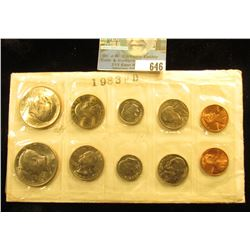 1983 P & D Private U.S. Mint Set of Coins. (10 pcs.) In cellophane and envelope.