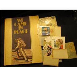 "1969 ""We Came in Peace The Story of Man in Space""; & a large group of cancelled U.S. Postage Stamps."