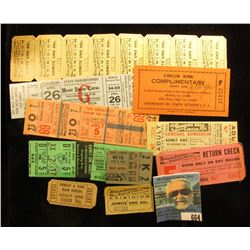 "(10) Different Circus tickets including ""Circus Kirk"", ""Ringling Brothers Barnum & Bailey Combined S"