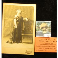 """Negro Minstrel Show at Gaehle's Hall…Adult Ticket 25c""; & an early black & white photo of the ""Bear"