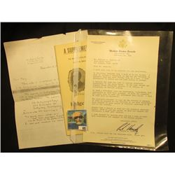 """A letter from 1990 accusing 'Doc' of attempting to pass off a fake Confederate Gun; """"A Supplementary"""
