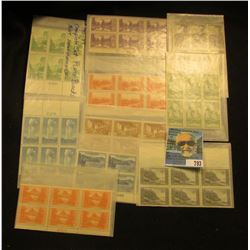 Complete Set Scott # 740-49 Plateblock, Mint, never hinged, all blocks of six.