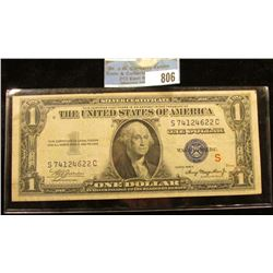 Series 1935A $1 Small Size Experimental (S) Silver Certificate.  This variety of silver certificate