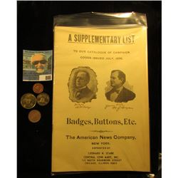 A Supplementary List to Our Catalog Goods Issued July, 1896 Badges, Buttons, Etc. The American News
