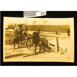 """Black & white Postcard """"The Little Giant Cable Puller Electric Specialty Mfg. Co. Cedar Rapids, Iowa"""