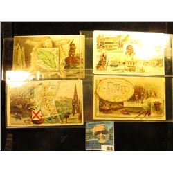 (4) Different advertising cards for Arbuckle Bros. Coffee Co., New York City. Includes Scotland, Gre