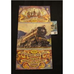 """A Century of Progress 1827 1934 Baltimore and Ohio Railroad World's Fair Exhibit Chicago"" Brochure."