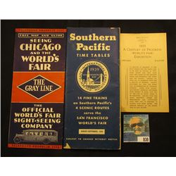 """Price 10 Cents Booklet on the 1933 A Century of Progress (World's Fair) Exposition Chicago Illinois"