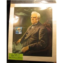 "1937 Original John Deere Portrait from J.D. Moline Archives, 14"" x 16 3/4""."